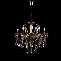 Классическая люстра-свеча на 6 лампочек Планета Света VL-8130/6 (GAB)