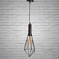 Черный подвесной светильник в стиле лофт на 1 лампочку Планета Света D-F5047/1