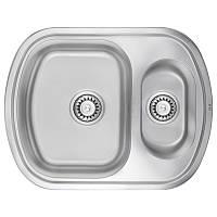 Кухонная мойка ULA 7703 U Satin с доп чашей 490*630 мм