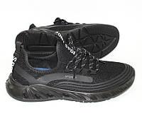 Легкие мужские кроссовки в черном цвете, фото 1