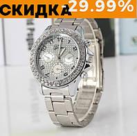 Модные женские часы Huans Серебро