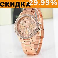 Модные женские часы Huans Розовое золото