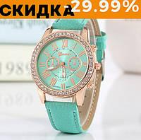 Модные наручные часы женские Geneva Мятный
