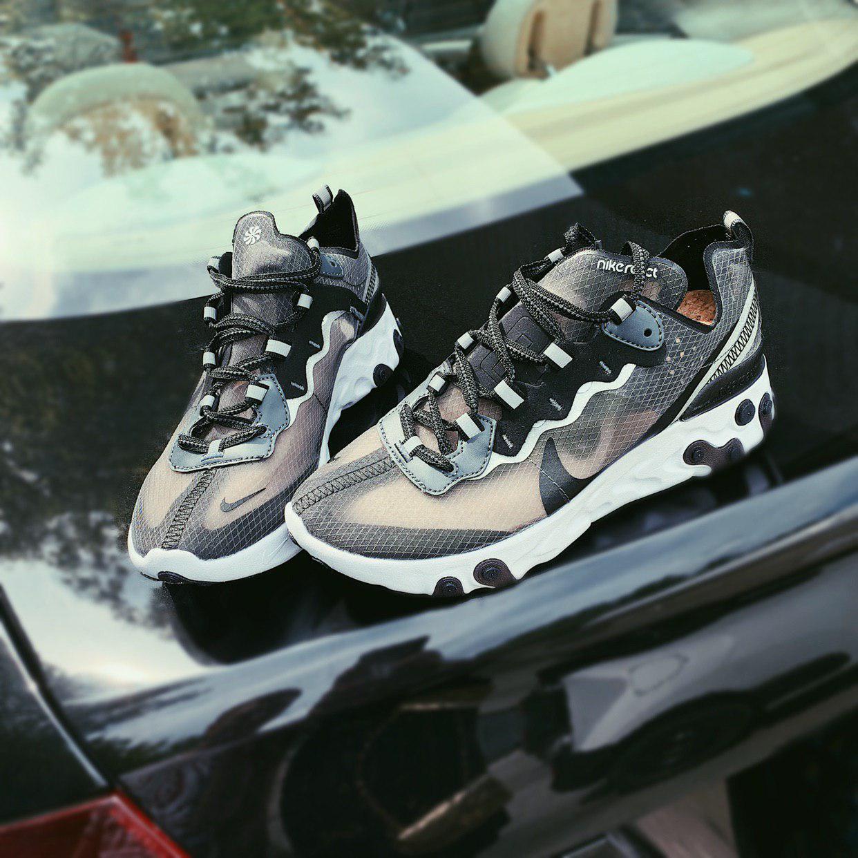 Женские кроссовки Nike React Element 87 Grey ( Реплика ) Остался 37 размер