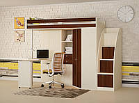 Кровать-чердак М85 с лестницей-комодом (2447х1250х1855 мм)