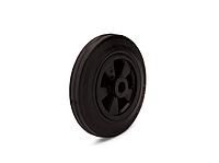 Колеса из черной резины с полипропиленовым диском диаметр 160 мм, нагрузка 140 кг. t экспл. -20 - +60С.