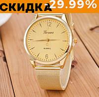 Женские часы наручные Женева Золото с желтым
