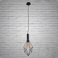 Черный подвесной светильник в стиле лофт на 1 лампочку Планета Света D-F5040/1