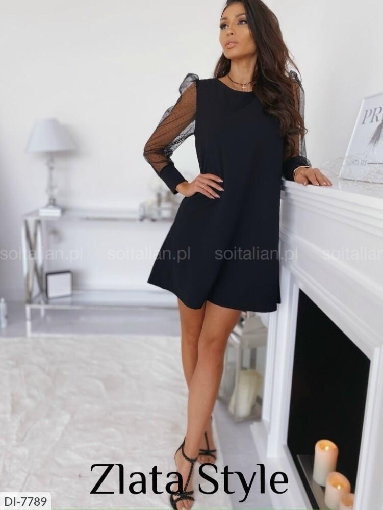 Женское платье черное с открытой спиной. Размеры: S-M, M-L.
