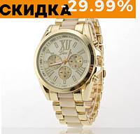 Модные женские наручные часы Geneva Желтый