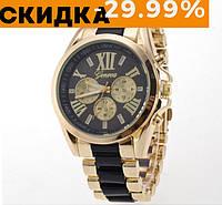 Модные женские наручные часы Geneva Черный