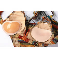 Вкладыши пуш ап Push up в бюстгальтер с силиконовой поверхностью вставки подушечки бежевые 405-34-1, фото 2