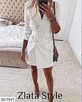 Женское платье с поясом на пуговицах. Размеры: S-M, M-L. Ткань: креп костюмка