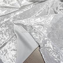 Ткань бархат стрейч мрамор белый, фото 3