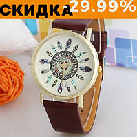 Наручные часы женские Женева коричневые