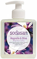Органическое жидкое мыло Sodasan Магнолия-олива детоксицирующие 300 мл (4019886071369)