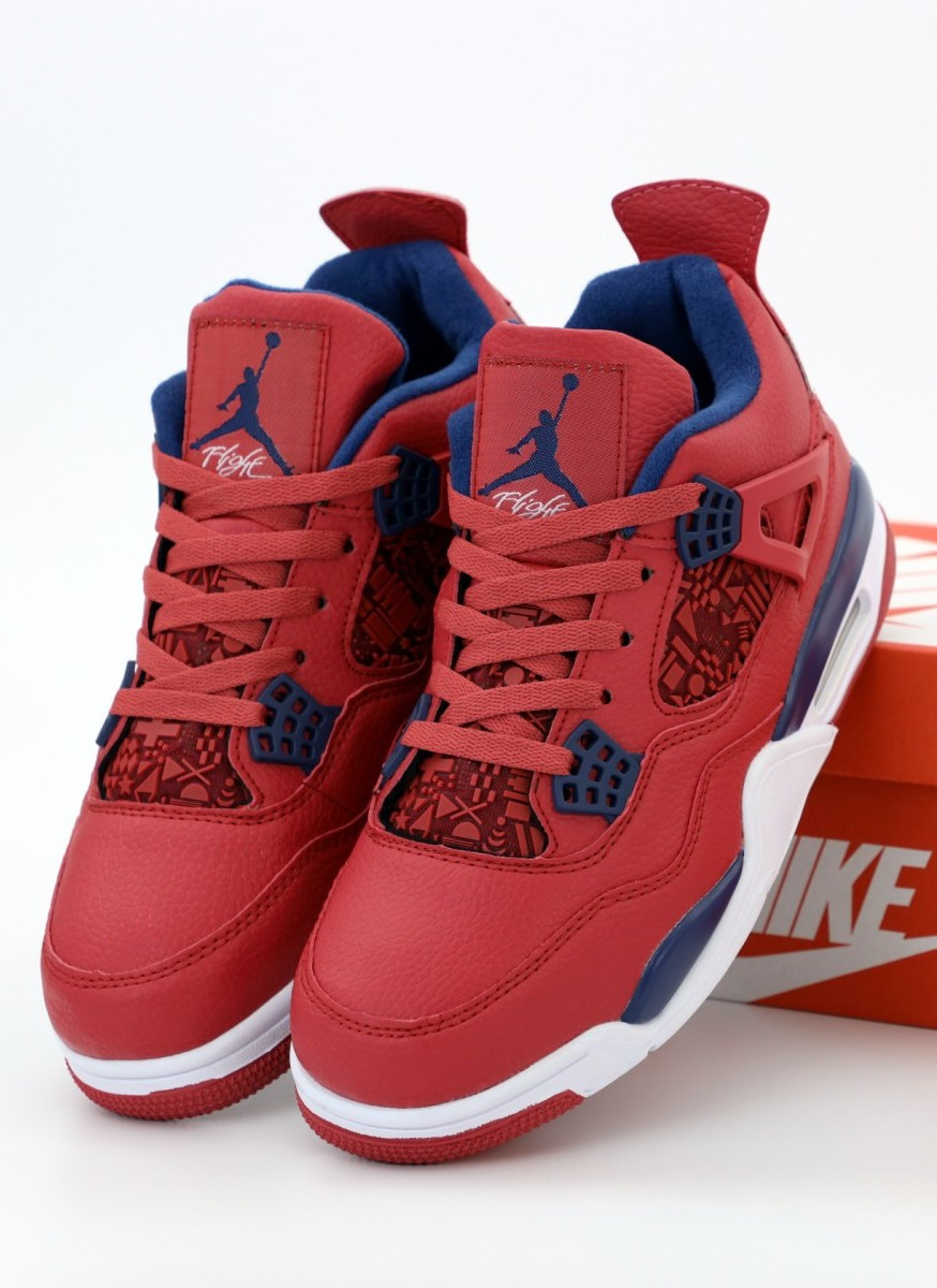 Баскетбольные кроссовки Nike Air Jordan 4 Retro Red (Найк Аир Джордан Ретро)