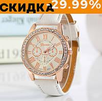 Модные наручные часы женские Geneva Белый