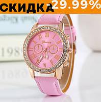 Модные наручные часы женские Geneva Розовый