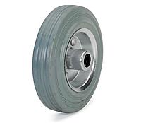 Колесо из стандартной литой резины серого цвета диаметр 100 мм, нагрузка 70 кг. t экспл. -20 - +60С