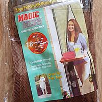 Москитная сетка штора на магнитах на двери