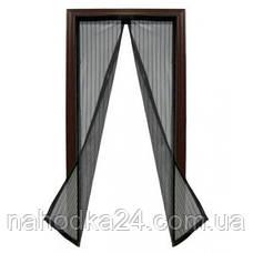 Москитная сетка штора на магнитах на двери, фото 3