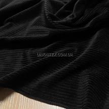 Ткань вельвет костюмно-плательный черный, ширина 150см, фото 3