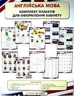 Англійська мова Оформлення кабінету (12 одностор. кольорових плакатів 50*70 см)