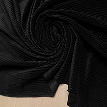 Ткань вельвет костюмно-плательный черный, ширина 150см, фото 2
