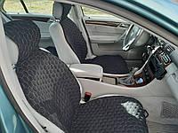 Накидка на автомобильное сиденье из хлопка плотного плетения. Две передние