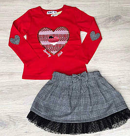 Комплект для девочки реглан юбка