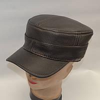 Мужская кожаная кепка с ушами - Модель 29-127