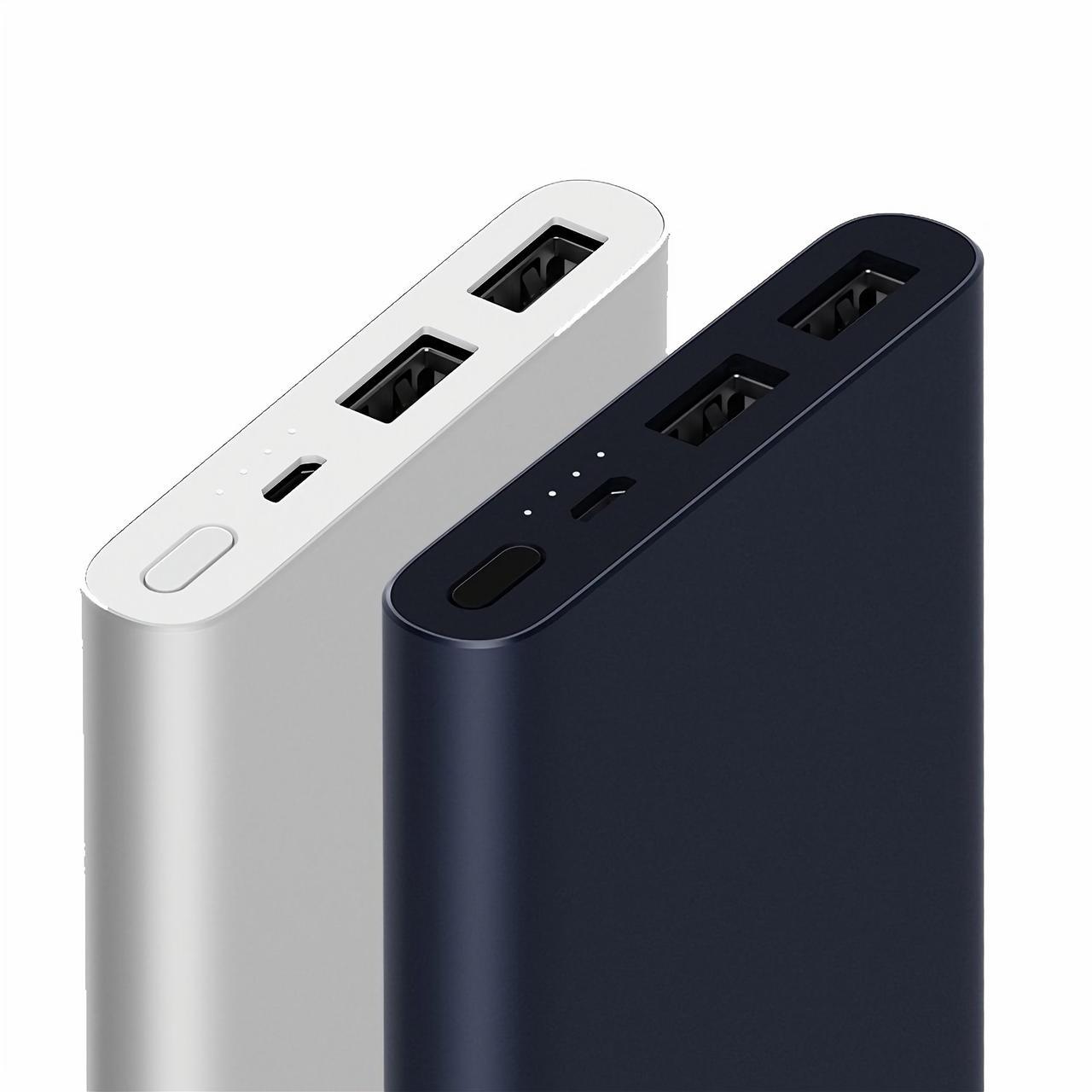 Портативные батареи Xiaomi Mi 2 10000 mAh XIAOMI Индикатор уровня заряда Алюминий Universal