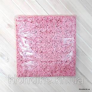 Розочки с Фатином, d - 2 см, Цвет: Розовый (12 букетов в упаковке)