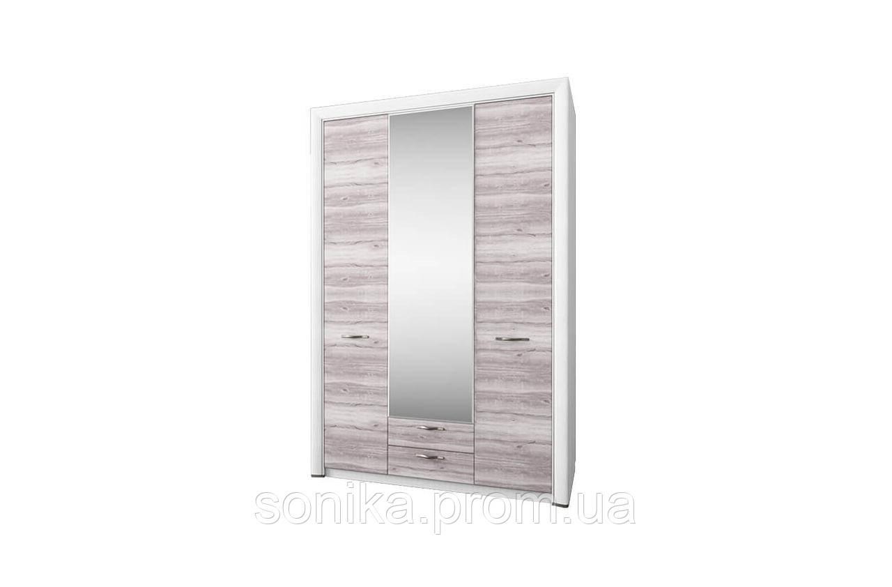 Шафа з дзеркалом OLIVIA 3d2s Крем/Дуб Ancona