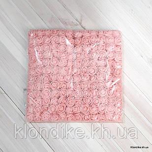 Розочки с Фатином, d - 2 см, Цвет: Персик (12 букетов в упаковке)