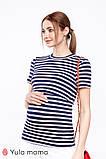 Смугаста футболка для вагітних та годуючих мам ZARINA NR-20.021, фото 2
