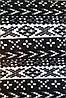 Трикотаж (Ангора на вельбо) орнамент черный/синий/коричневый