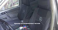 Чехлы на сиденья, авточехлы MERCEDES  ATEGO 1+1  2005- (водитель высокая спинка; пассажир отдельный подголовник) Nika