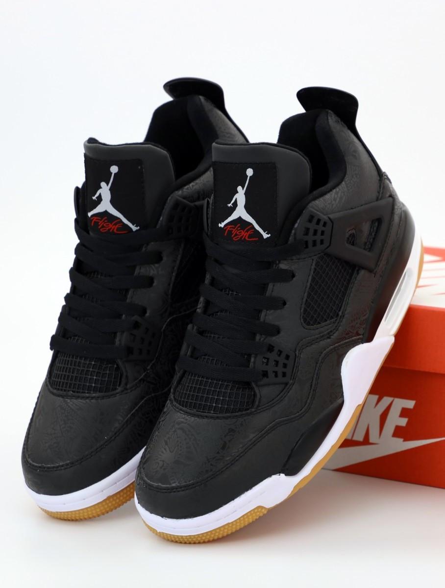 Баскетбольные кроссовки Nike Air Jordan 4 Retro SE Black (Найк Аир Джордан Ретро)