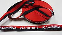 Черно-красная лента FILA 2,5 см, фото 1