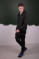 Чёрный Спортивный костюм Найк Nike Ветровка Найк  Nike  + Штаны + Барсетка в подарок