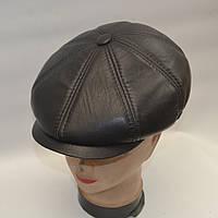 Мужская кожаная кепка с ушами - Модель 29-128