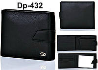 Кошелек мужской, портмоне, бумажник из натуральной кожи, черный Dupont