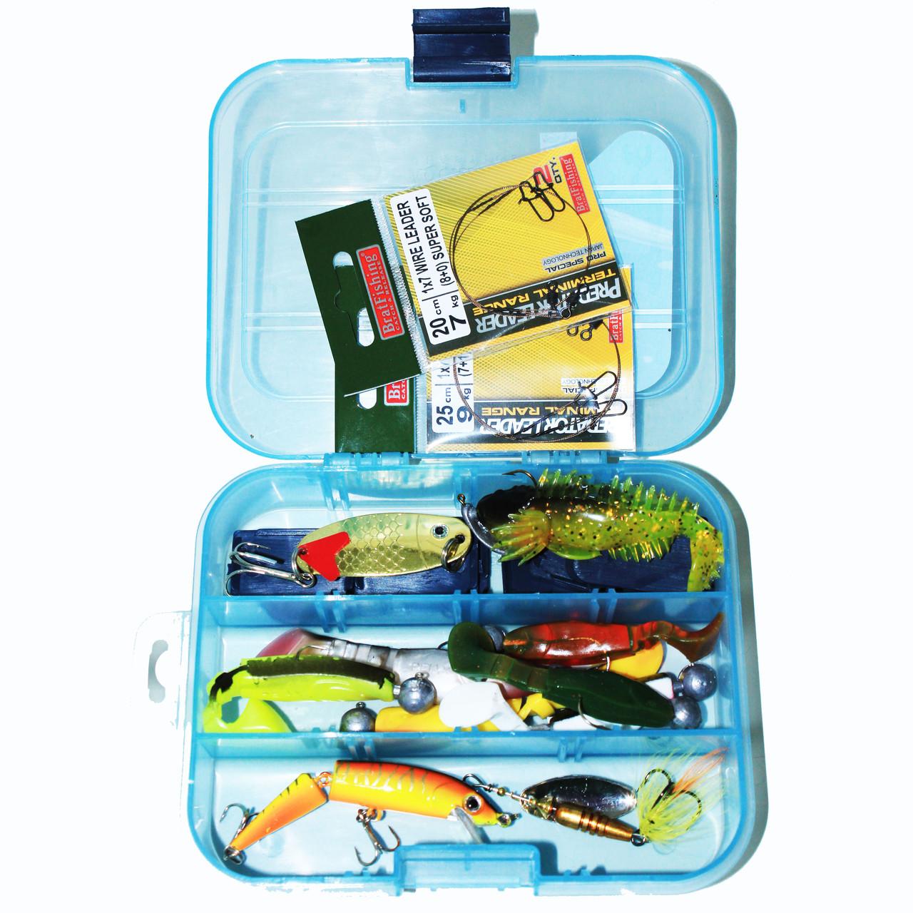 Набір для лову хижої риби(окунь, судак, щука)+ коробка