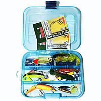 Набір для лову хижої риби(окунь, судак, щука)+ коробка, фото 1