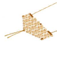 Золотое кружевное ожерелье ручной работы