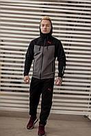 Спортивный костюм Puma серо-черный