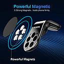 Универсальный автомобильный держатель для телефона на вентиляционное отверстие, магнитный держатель, фото 3