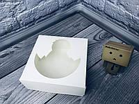 *10 шт* / Коробка под зефир / *h=6* / 150х150х60 мм / Белая / окно-цыпленок / Пасха, фото 1